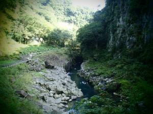 Walking path along the gorge